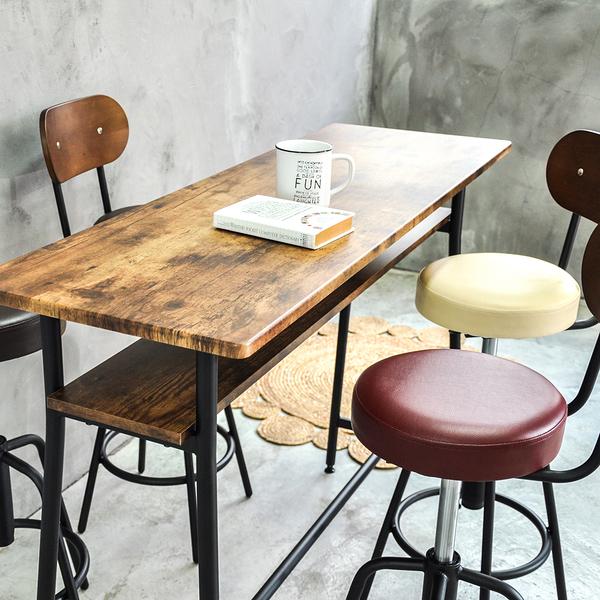 吧台桌/日式吧台桌(仿古木) 120cm雙層/仿古木色 (不含椅) MIT台灣製【51578-C】Tasteful 特斯屋