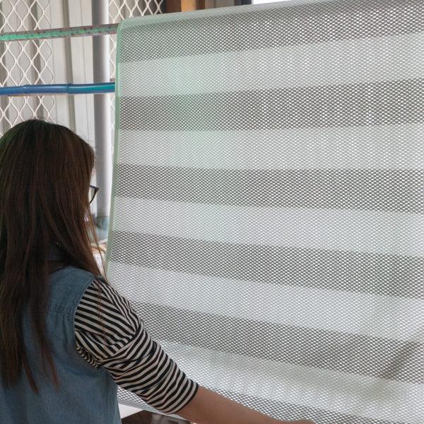 條紋透氣網可水洗涼蓆 雙人(150cm*180cm) 透氣性超好 表面不留汗水 簡易收納
