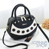 手提包 愛德娜圓釦裝飾手提包-Joanna Shop
