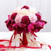 新款韓式手捧花新娘仿真玫瑰結婚花束婚紗照道具花球 婚慶用品『小淇嚴選』