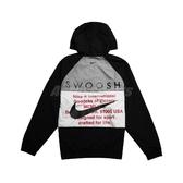 Nike 外套 NSW Swoosh Jacket 黑 白 男款 防風外套 連帽 運動休閒 【PUMP306】 CJ4889-011
