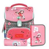 TigerFamily小學者超輕量護脊書包+文具袋+鉛筆盒--BUBU 少女
