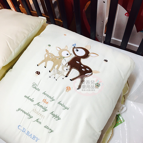 【愛吾兒】童心 Child Mind 小鹿潘比純棉七件組(L)-咖啡米