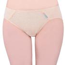 思薇爾-彩棉系列M-XL素面低腰三角內褲(蜂蜜膚)