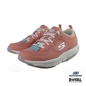 Skechers 新竹皇家 Liv 粉橘色 網布 透氣 回彈 記憶鞋墊 慢跑運動鞋 女款 NO.I9702