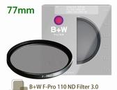 B+W F-PRO 110 ND 3.0 ND1000 77mm 單層鍍膜減光鏡 減10格【公司貨】BWL
