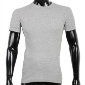 BURBERRY 紳士透氣排汗短袖棉質上衣(灰色))085212-2