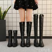 長款靴子女秋季新款中長款中跟過膝馬丁靴高腰單靴子ins鞋冬 安妮塔小鋪