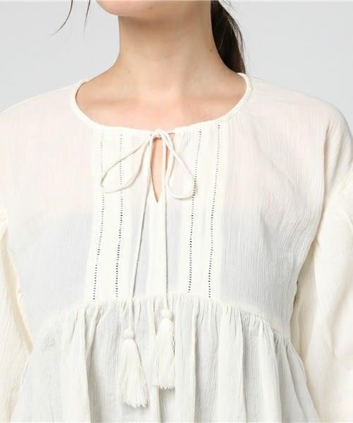 ❖ Hot item ❖ 流蘇綁結氣球袖剪裁上衣 (提醒➯SM2僅單一尺寸) - Sm2