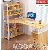 電腦桌簡約現代 寫字桌家用學生台式書桌簡易多功能辦公桌YYJ  MOON衣櫥