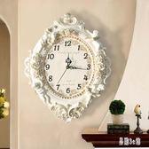 歐式客廳創意時尚藝術裝飾掛鐘靜音臥室時鐘大掛鐘表天使鐘表 DJ6783『易購3c館』