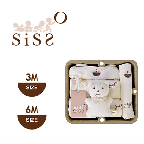 【SISSO有機棉】*秋冬*暖暖棉絨新生寶寶禮盒 3M~6M