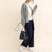 東京著衣-aimoha-腰綁帶棉質設計感寬褲(U200001)