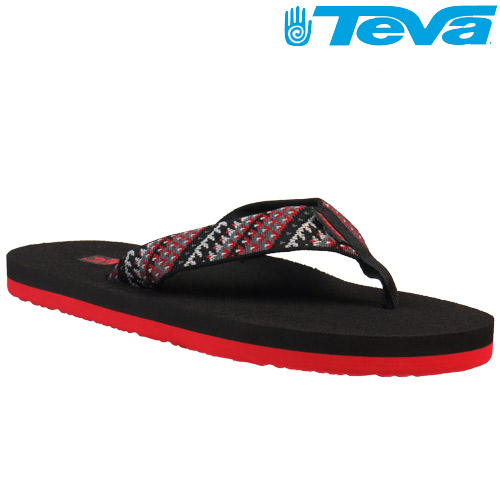 TEVA 超輕量舒適記憶鞋床織帶夾腳拖 Mush 2– 艦隊紅