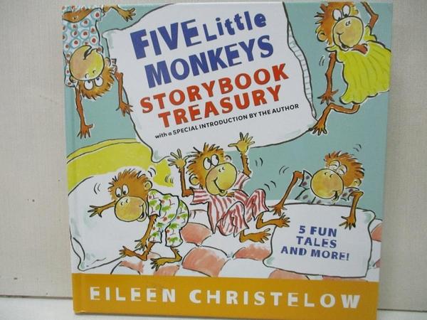 【書寶二手書T1/少年童書_EUG】Five Little Monkeys Storybook Treasury_Christelow, Eileen