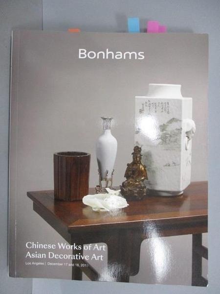 【書寶二手書T9/收藏_POL】Bonhams_Chinese Works of Art/Asian…2019/12/17