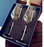 店長推薦 水晶?石無鉛紅酒杯套裝家用刻字高腳杯帶?創意結婚禮物大號禮盒