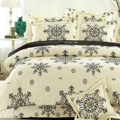 【Arnold Palmer雨傘牌】白繽紛璀璨-台製40紗精梳純棉床包枕套雙人加大三件組