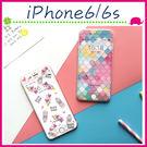 Apple iPhone6/6s 4.7吋 Plus 5.5吋 創意鋼化玻璃膜 滿版螢幕保護貼 彩色菱格鋼化膜 9H保護貼 (正面)