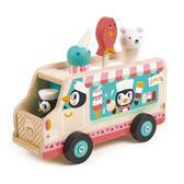 【美國Tender Leaf Toys】企鵝老闆的冰淇淋車(運輸系列)