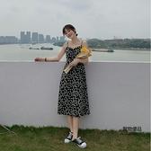 夏季小個子初戀茶歇桔梗裙小可愛法式氣質薄款連身裙女【聚物優品】