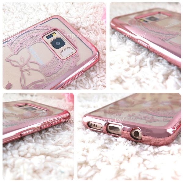 Sanrio三麗鷗Samsung Galaxy S8時尚質感電鍍雷雕保護套-Kitty系列