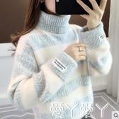 毛衣高領女士毛新款女裝冬裝套頭外穿秋冬加厚水貂絨打底衫新品