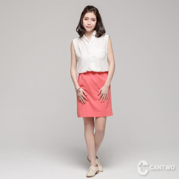 cantwo襯衫式無袖假兩件洋裝(共二色)~網路獨家春夏新品登場