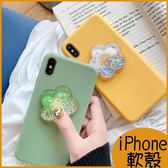 動態花朵 XSMax iPhoneXR手機殼 ix保護套 i6S Plus 小清新花朵流沙 iPhone7全包邊軟殼 i8 Plus手機殼
