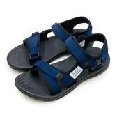 LIKA夢 LOTTO 輕量流行織帶運動涼鞋 街頭流行時尚系列 藍黑 6136  男