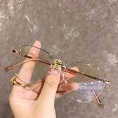 韓版復古眼鏡女學生多邊形平光鏡框網紅同款男潮 韓國時尚週