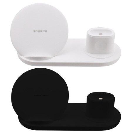 【3期零利率】福利品出清 QI-P09 3IN1 手機/手錶/耳機 QI無線充電座 10W 快充 蘋果手錶