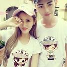 情侶裝-裝新款情侶T恤短袖上衣半袖潮韓版卡通學生春季個性