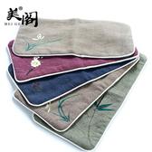 棉麻手繪茶巾吸水茶墊茶具桌布茶布毛巾養壺巾【雲木雜貨】