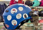 Hello Kitty安全帽,雪帽,K825,麗莎與卡斯柏 X  hello kitty聯名款/消光藍,附抗UV-PC安全鏡片