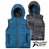PolarStar 兒童 鋪棉雙面保暖背心『藍』P18209 戶外 休閒 登山 露營 保暖 禦寒 防風 刷毛