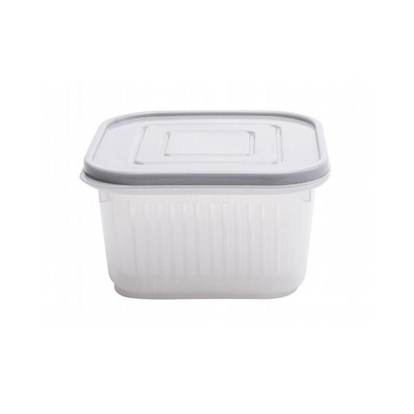 配料瀝水保鮮盒(方形) 1入 【小三美日】顏色隨機出貨