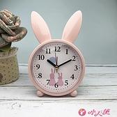 鬧鐘 靜音小鬧鐘創意卡通兒童專用臥室床頭鐘學生時鐘桌面可愛鐘表擺件 小天使 618