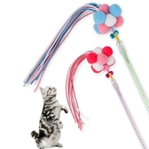 2件裝 寵物玩具 韓式毛球羽毛糖果色流蘇仙女棒貓咪逗貓棒【宅貓醬】