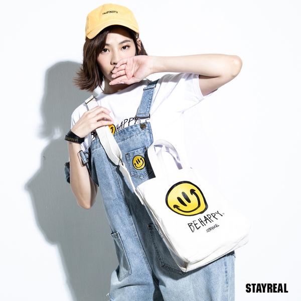 STAYREAL BE HAPPY 陽光笑臉帆布包