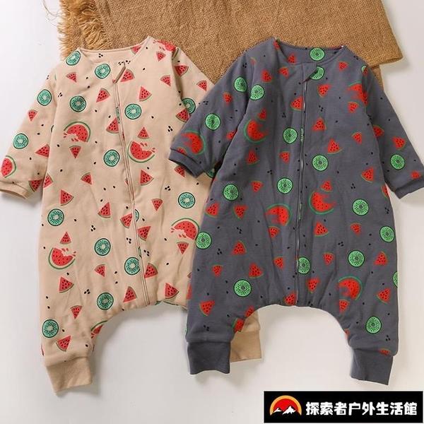 睡袋嬰兒純棉薄款兒童寶寶防踢被四季通用款分腿