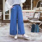 個性休閒牛仔寬褲-I-Rainbow【A40065】