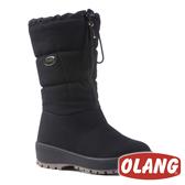 【義大利 OLANG】女 ZILLER.OC OLANTEX 專利收合釘爪防水雪靴『黑色』 雪鞋 雪地靴 OL-1782CW