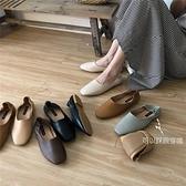 奶奶鞋2020春秋平底方頭樂福鞋兩穿一腳蹬懶人搭豆豆鞋淺口單鞋女 【端午節特惠】