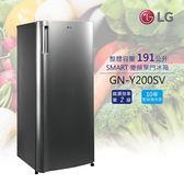 【24期0利率+基本安裝+舊機回收】LG 樂金 191公升 SMART 變頻單門冰箱 GN-Y200SV 公司貨