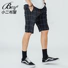 格子褲 質感文青紳士大尺碼韓版格紋短褲【NW611005】