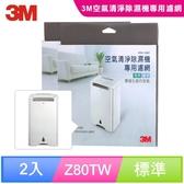 3M 淨呼吸空氣清淨除濕機HAF超微米濾網(超值2入組)
