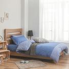 床包 / 雙人特大【簡單生活-深系列-多色可選】含兩件枕套 100%精梳棉 戀家小舖台灣製AAA501