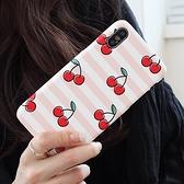 韓國 水果條紋 硬殼 手機殼│iPhone 6 6S 7 8 Plus X XS MAX XR 11 Pro LG G7 G8 V40 V50│z8525