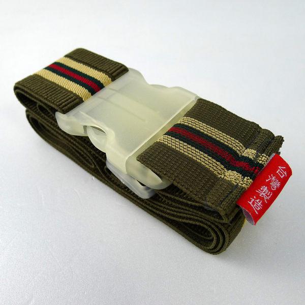 Happy Travel 彈性條紋-旅行箱 綁帶/束帶-台灣製造 (04 綠 2入)